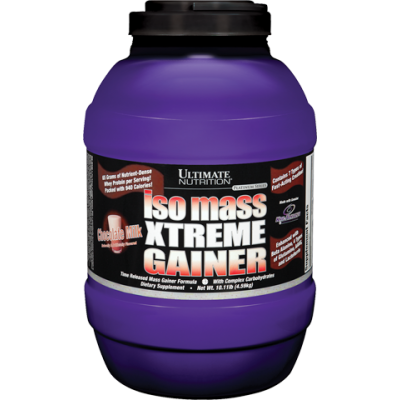 ULTIMATE NUTRITION ISO MASS XTREME GAINER (10lbs) Strawberry Milkshake_1