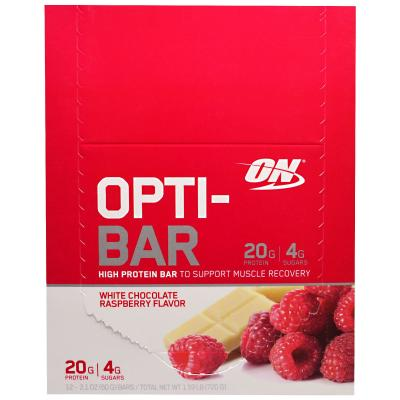 OPTIMUM NUTRITION ON OPTI-BAR LOW SUGAR HIGH PROTEIN LIKE QUEST - 12 BARS_1