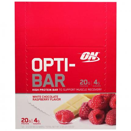 OPTIMUM NUTRITION ON OPTI-BAR LOW SUGAR HIGH PROTEIN LIKE QUEST - 12 BARS
