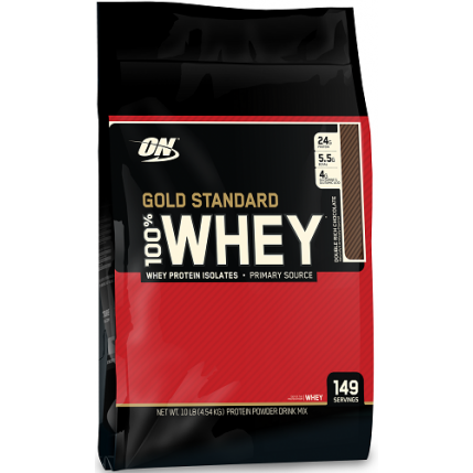 OPTIMUM NUTRITION ON WHEY GOLD STANDARD, 10LBS