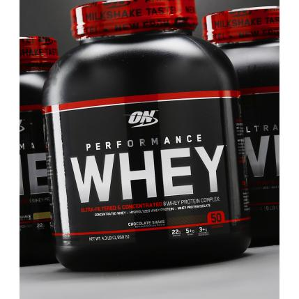 OPTIMUM NUTRITION ON PERFORMANCE WHEY (4.3Lbs, 50 Portions)